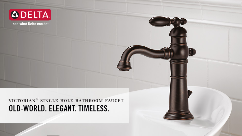 Delta Victorian Single Hole Single-Handle Bathroom Faucet with Metal ...