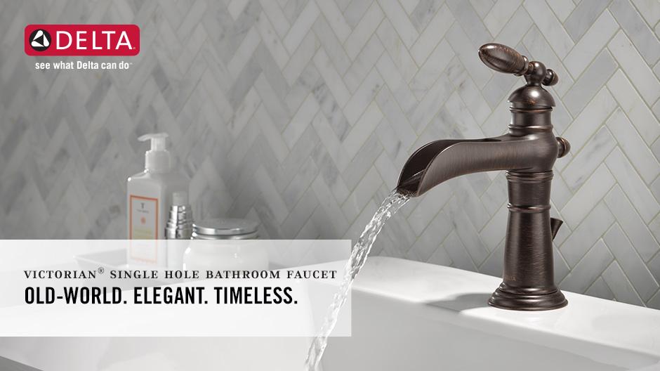 Genial Victorian Single Handle Waterfall Bathroom Faucet