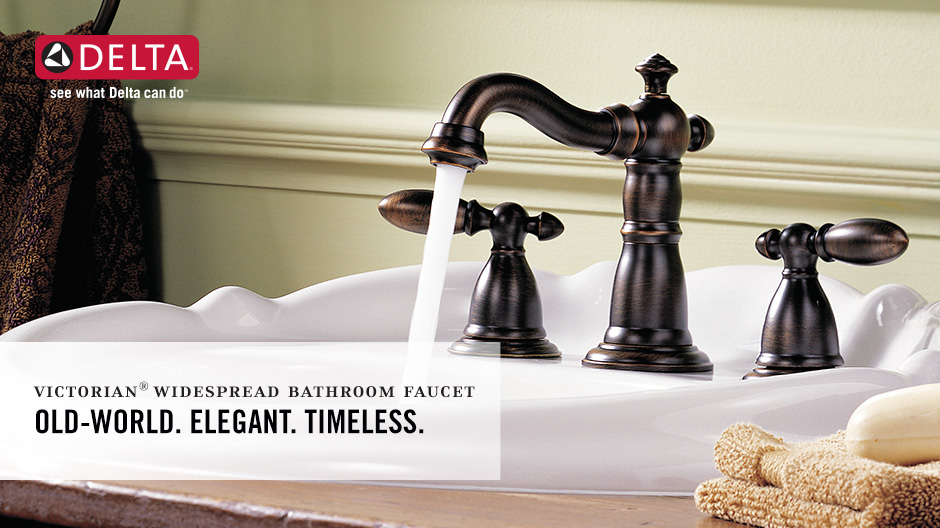 Victorian 2-Handle Widespread Bathroom Faucet with DIAMOND Seal Technology
