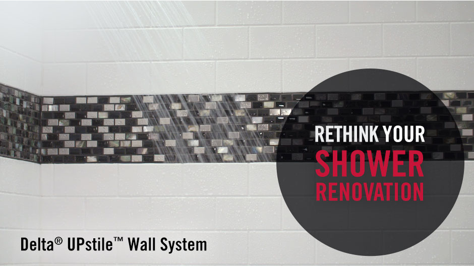 More affordable than a fully-tiled shower wall