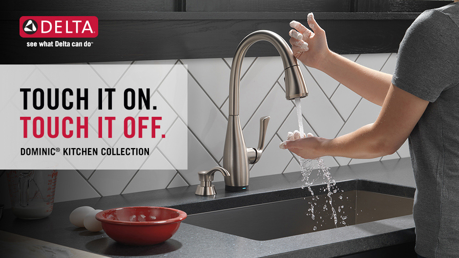 Delta Dominic Kitchen Faucet with Touch2O Technology