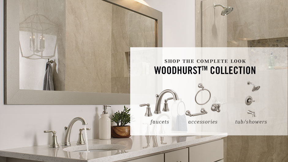 Delta Woodhurst 1 Handle Wall Mount Shower Trim Kit In