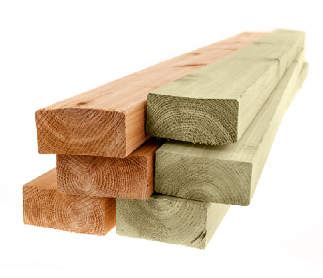 Image of wood and treated lumber.