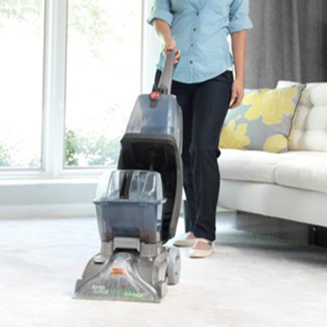 hoover professional series turbo scrub upright carpet cleaner fh50134 the home depot. Black Bedroom Furniture Sets. Home Design Ideas