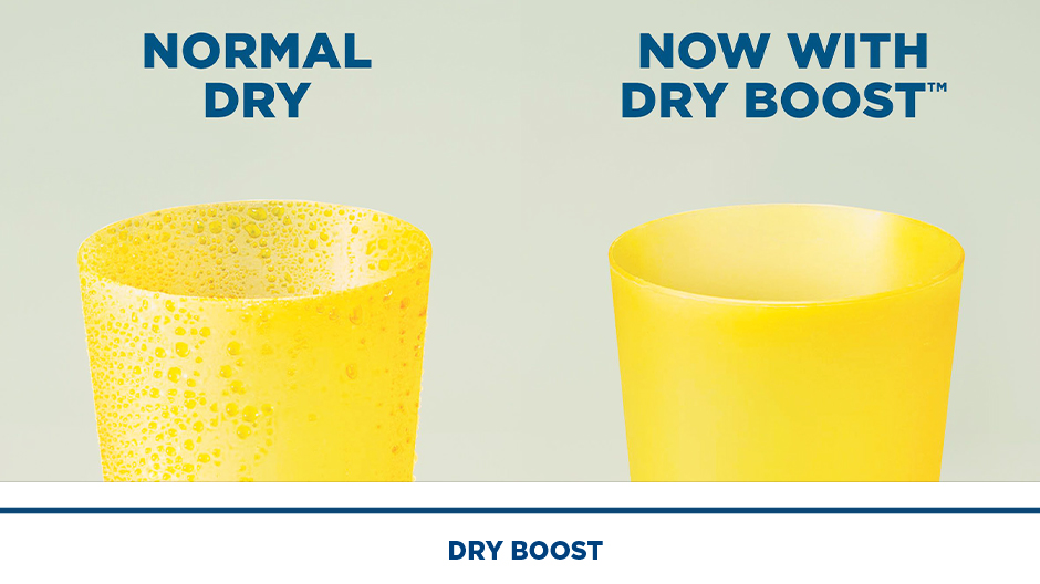 Dry Boost improves drying performance