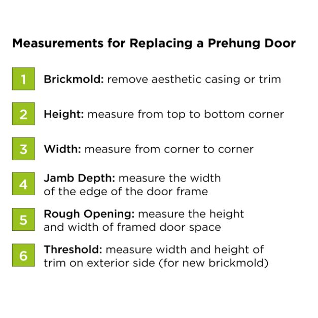 How to measure for replacing a prehung door