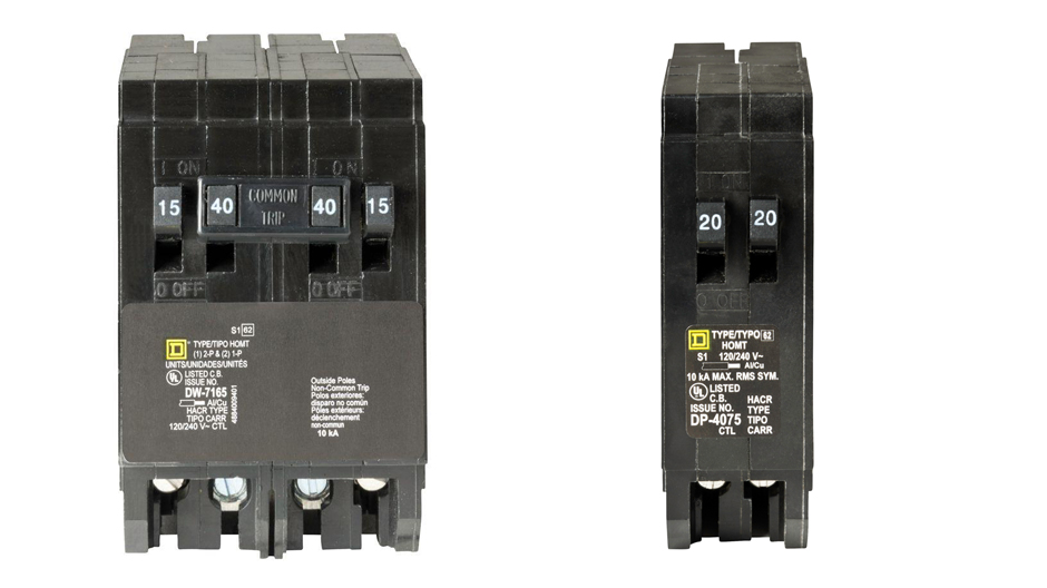 Square D Homeline Residential Standard 40 Amp Two-Pole Circuit Breaker