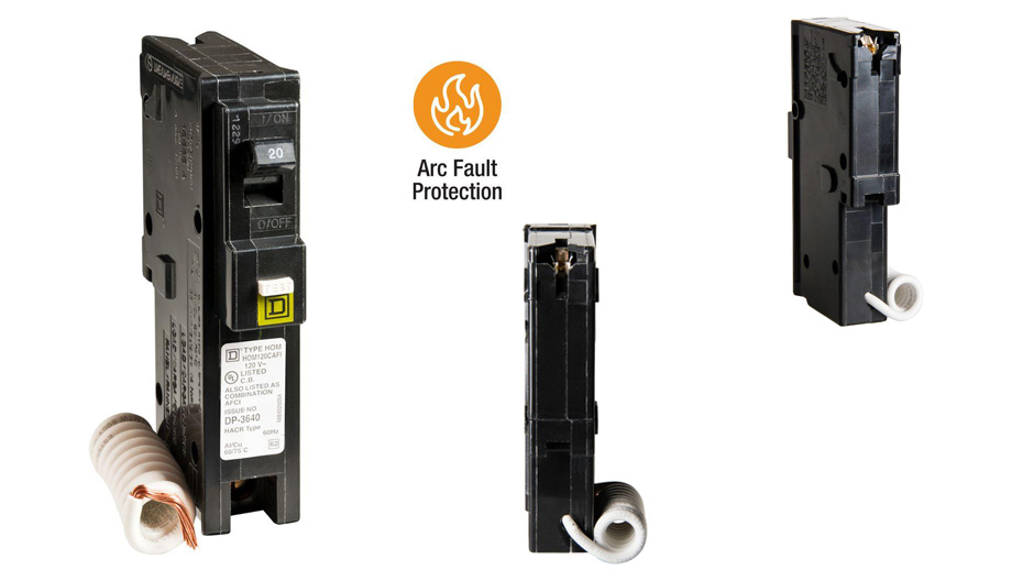 Get parallel and series arc protection with Square D Homeline CAFCI breakers