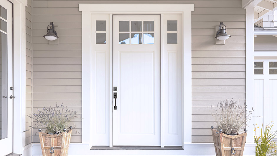 Exterior shot of door with SmartKey Security lock