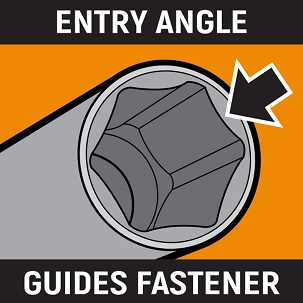 Angled lead-in icon