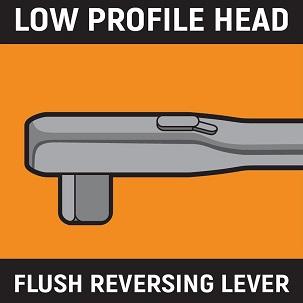 Ratchet low profile head icon