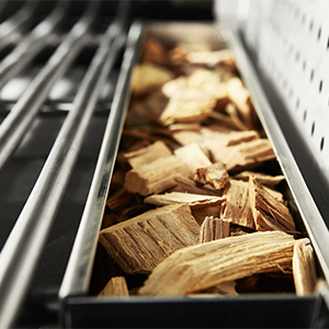 smoker box with woodchips