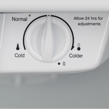 Interior temperature control dial