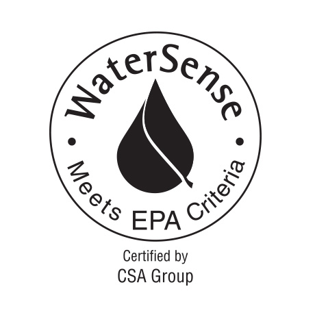 Image is a line drawing of the WaterSense logo on a white background