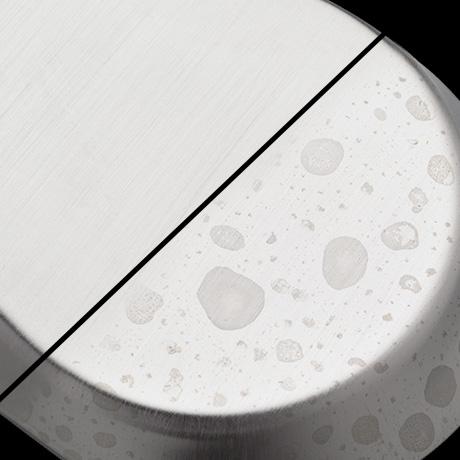 SpotShield Technology resists water spots and fingerprints.