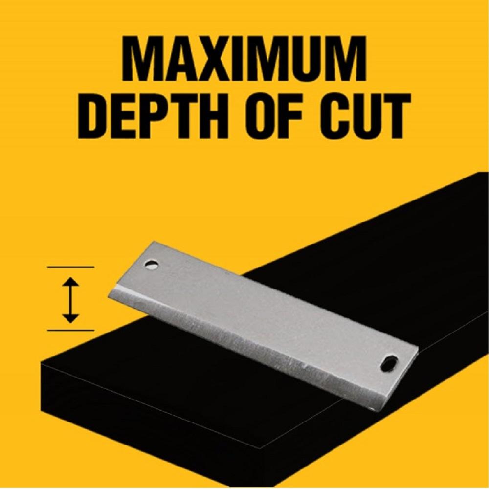 Up to 30000 cuts per minute and 5/64 in. maximum cut depth.