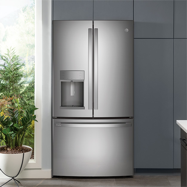 Refrigerator installed in cabinets