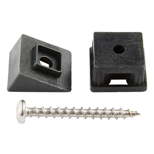 A product shot showing the square baluster connector kit