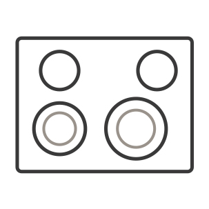 An icon of the glass cooktop