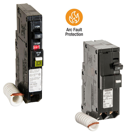 Choose between single-pole or 2-pole QO CAFCI breakers