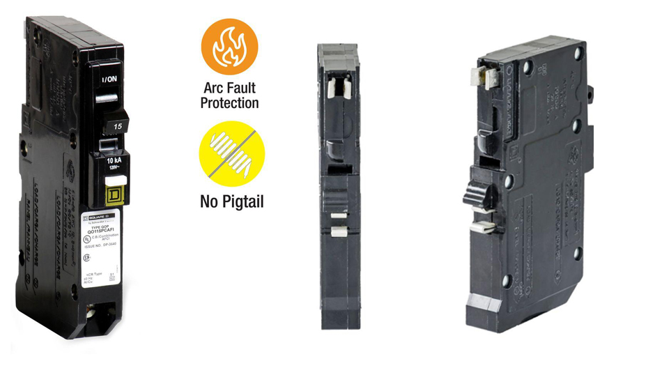 Get parallel and series arc protection with Square D QO CAFCI Plug-On Neutral breakers