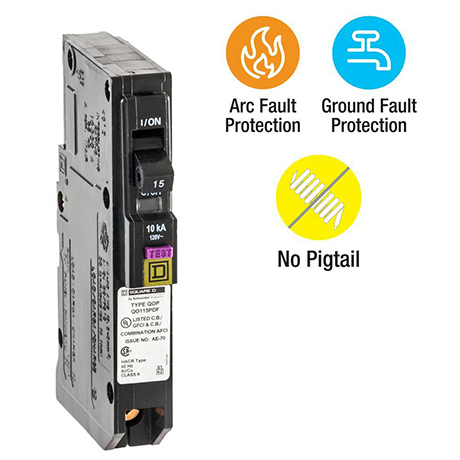 Square D QO Dual-Function Plug-On Neutral breakers available in single-pole design