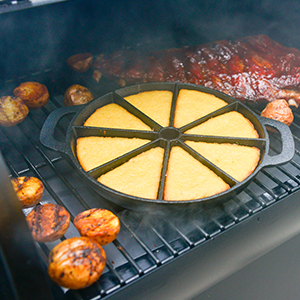 Traeger Grills - Square Inches - Bronson with food