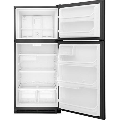 Interior view of refrigerator