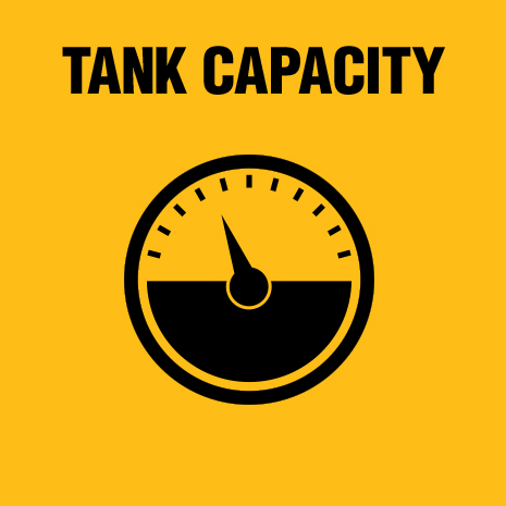 Tank includes a heavy duty latch to easily empty and clean.