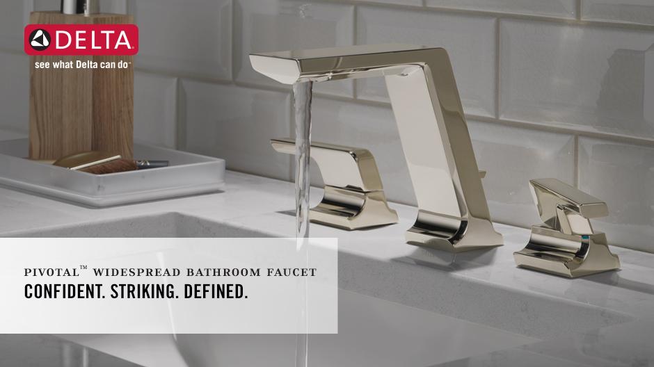 Delta Porter 8 In Widespread 2 Handle Bathroom Faucet In: Delta Pivotal 8 In. Widespread 2-Handle Bathroom Faucet