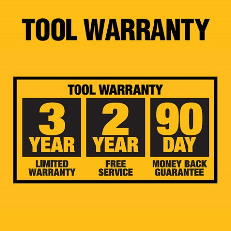 3-Year Limited Warranty, 2-Year Free Service and 90-Day Money Back Guarantee.