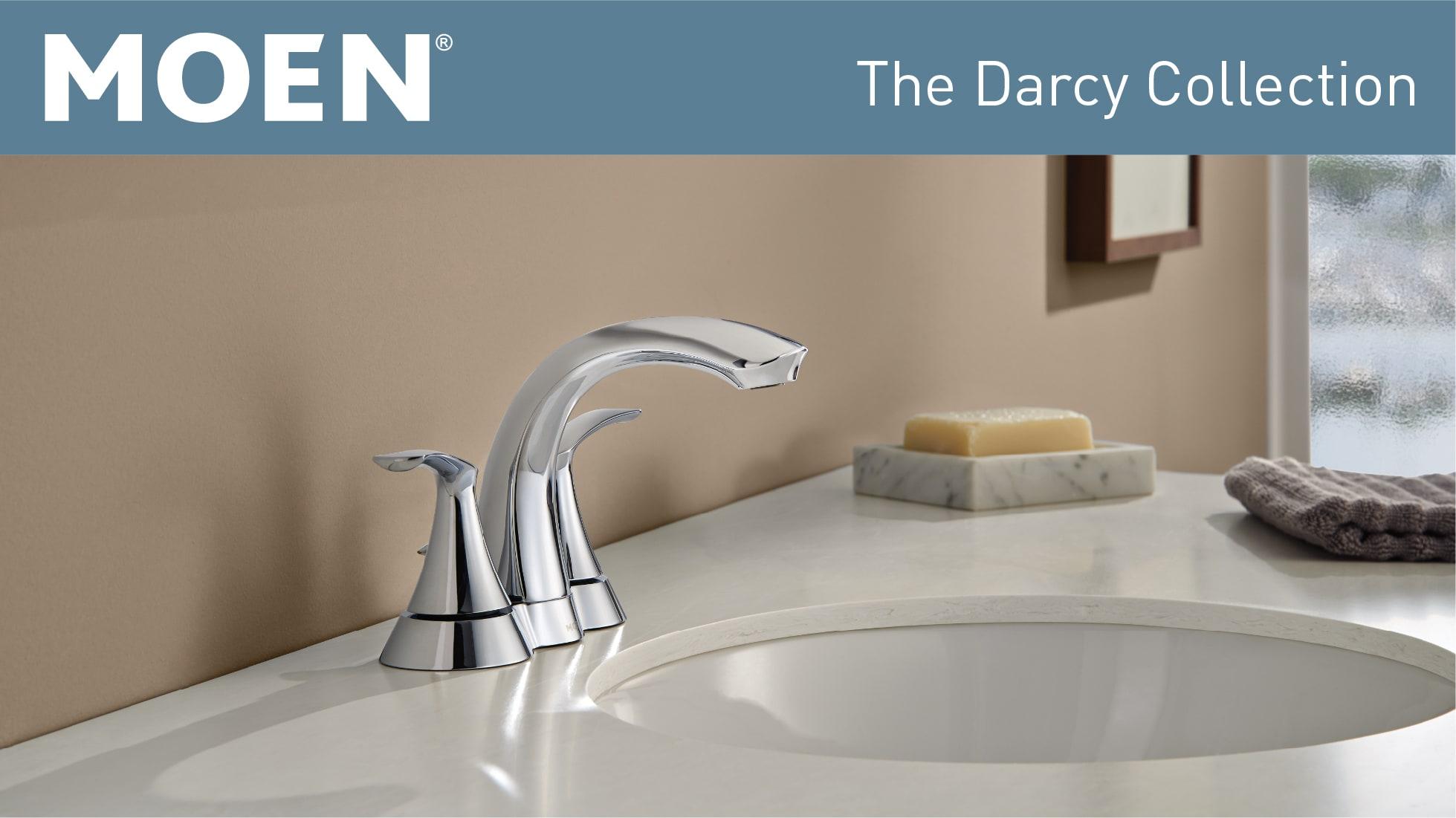 MOEN Darcy 4 in  Centerset 2-Handle Bathroom Faucet in Spot Resist Brushed  Nickel
