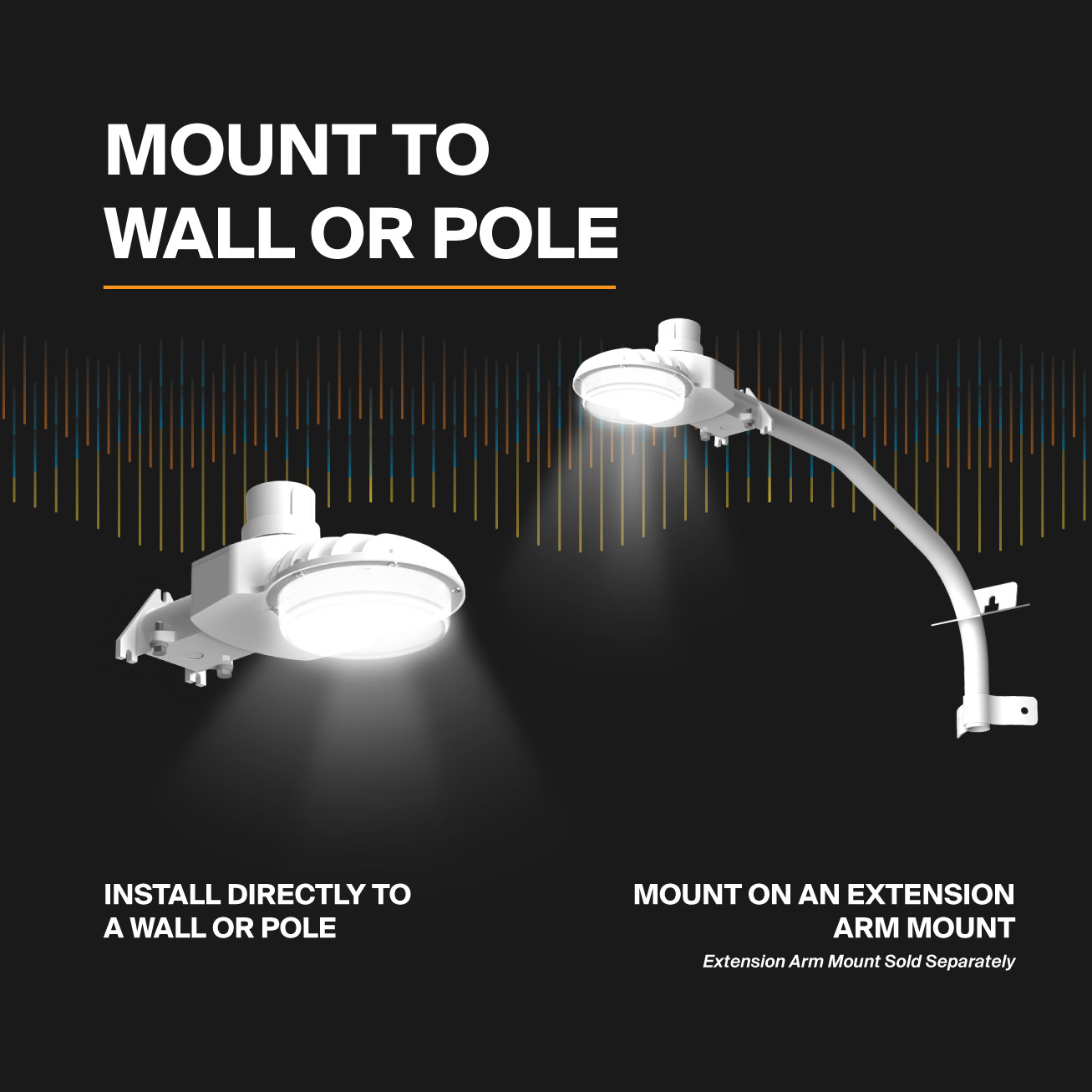 Probrite ASTRA40 LED Area Light Mounting Options