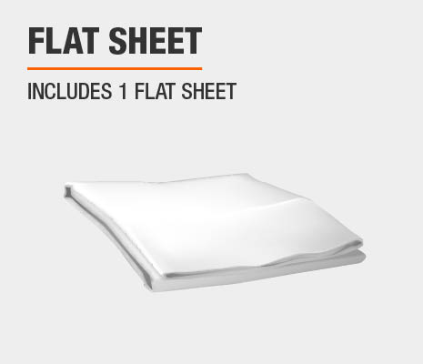 Set includes 1 flat sheet