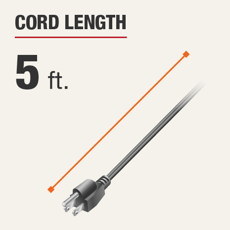 Cord Length is 5 feet