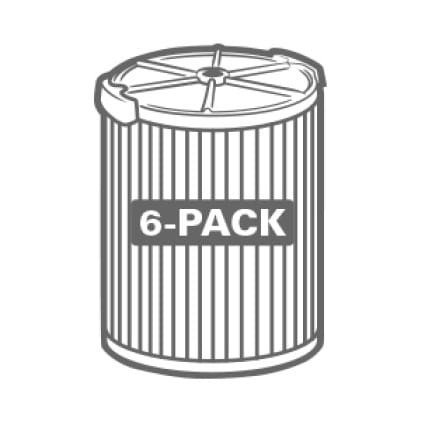 Buy more and save. Significant savings when purchasing the 6-Pack.