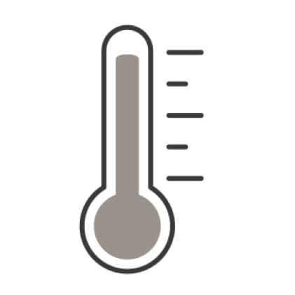 An icon of a thermometer