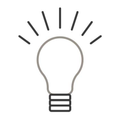 An icon of a light bulb