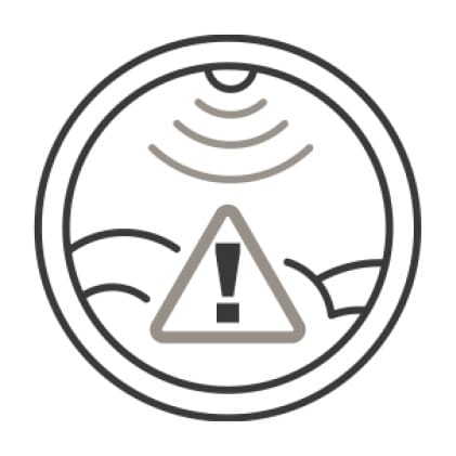 A caution symbol is overlaid on top of an icon of the dryer's window, indicating a blockage in the vents