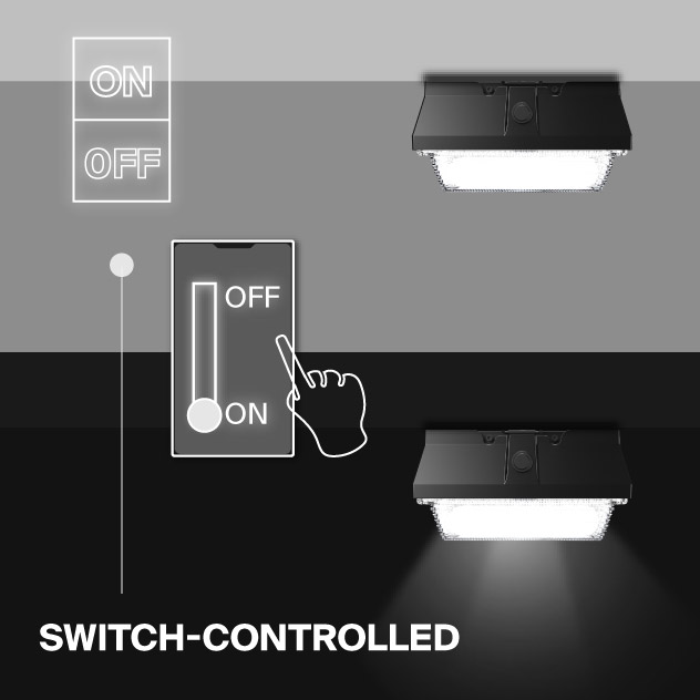 Probrite Helios20 LED Ceiling Light Switch-Controlled
