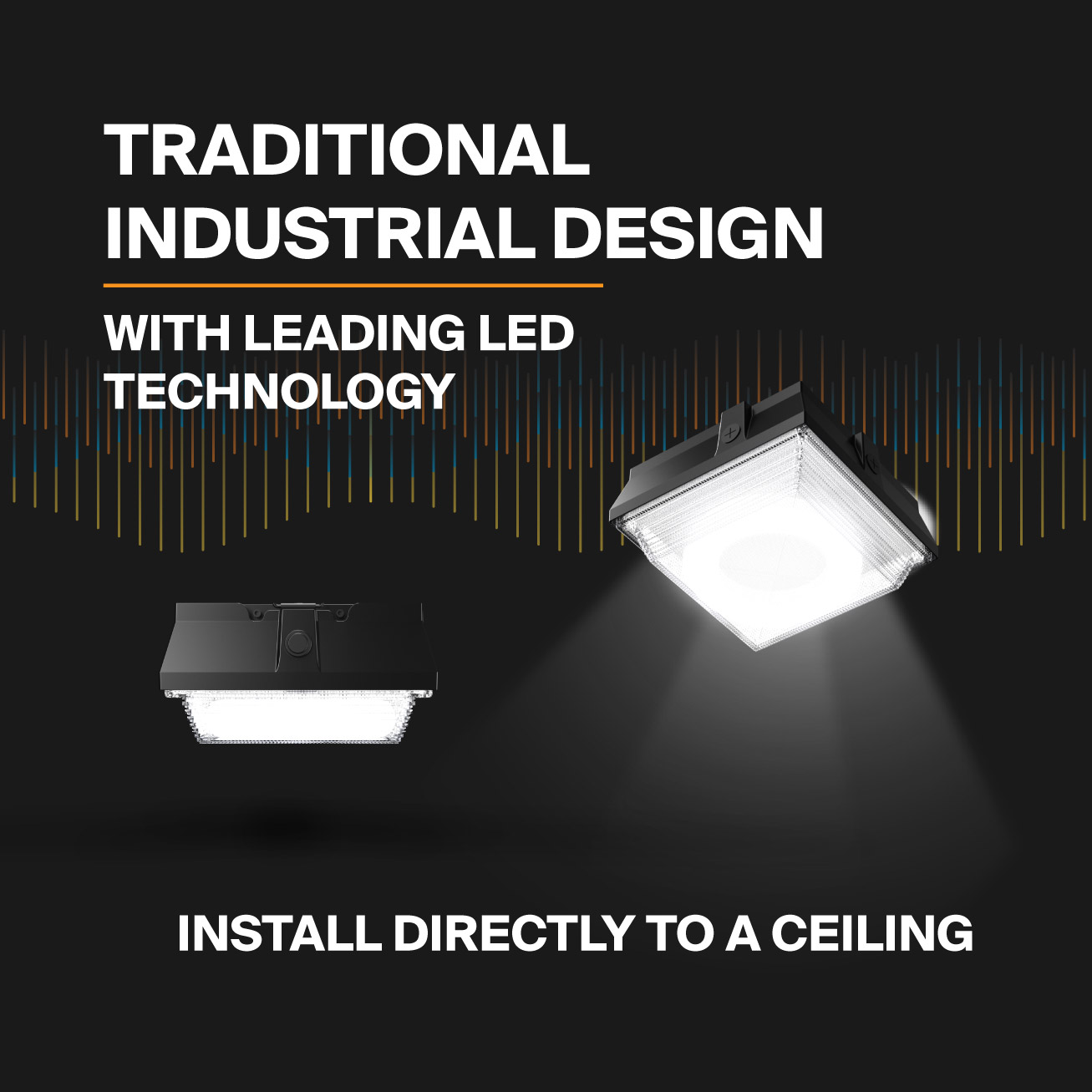 Probrite Helios20 LED Ceiling Light Traditional Industrial Design