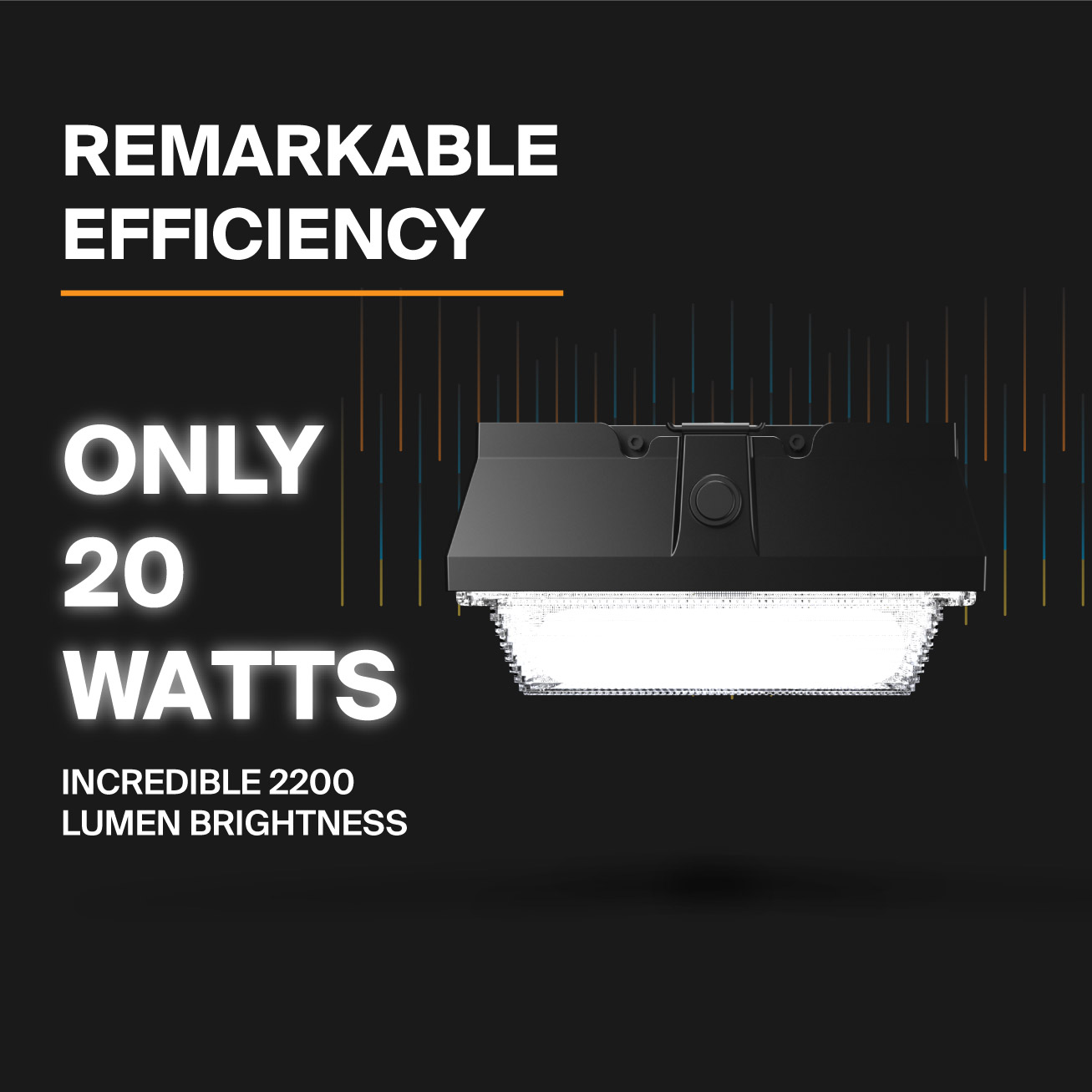 Probrite Helios20 LED Ceiling Light Efficiency