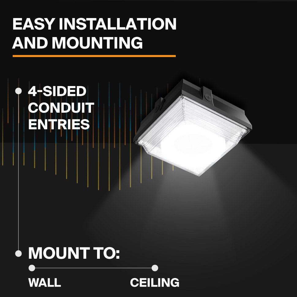 Probrite Helios20 LED Ceiling Light Mounting Applications