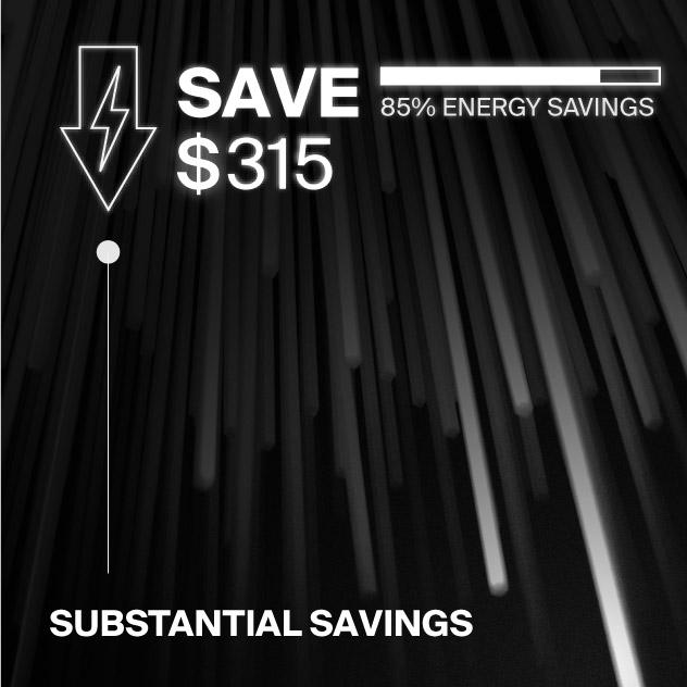 Probrite Helios20 LED Ceiling Light Energy Savings