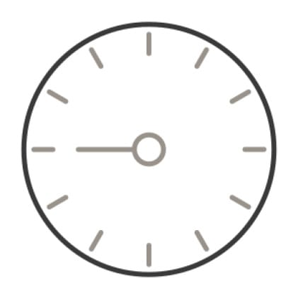 An icon of a timer's face.An addition symbol is superimposed over the lower right corner of the timer.