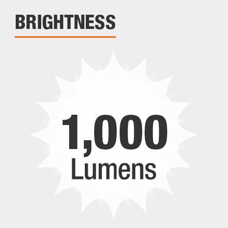 Brightness is 1000 Lumens