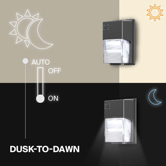Probrite LYRA20 LED Wall Pack Dusk to Dawn Outdoor Light