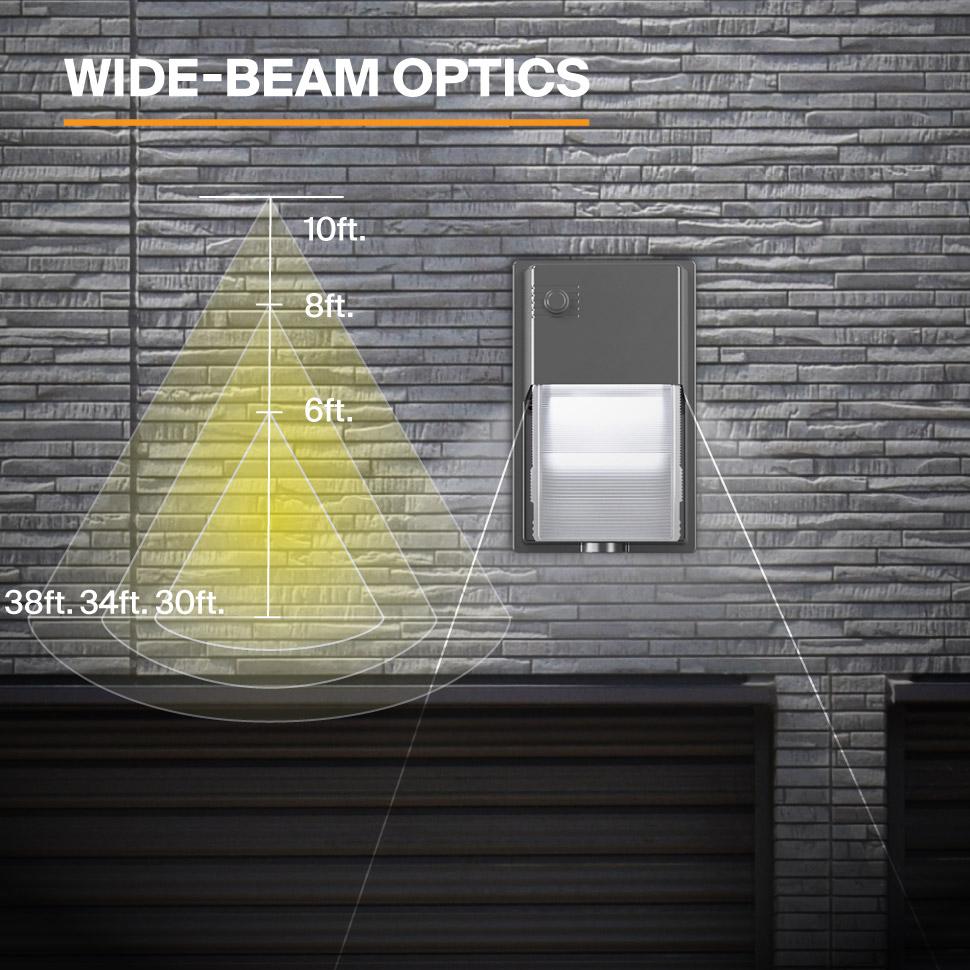 Probrite LYRA20 LED Wall Pack Wide Beam Optics