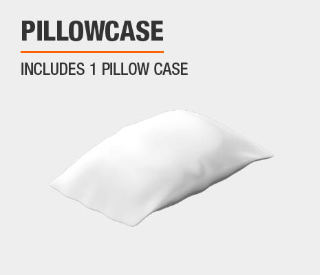 Sheet set includes 1 pillowcase