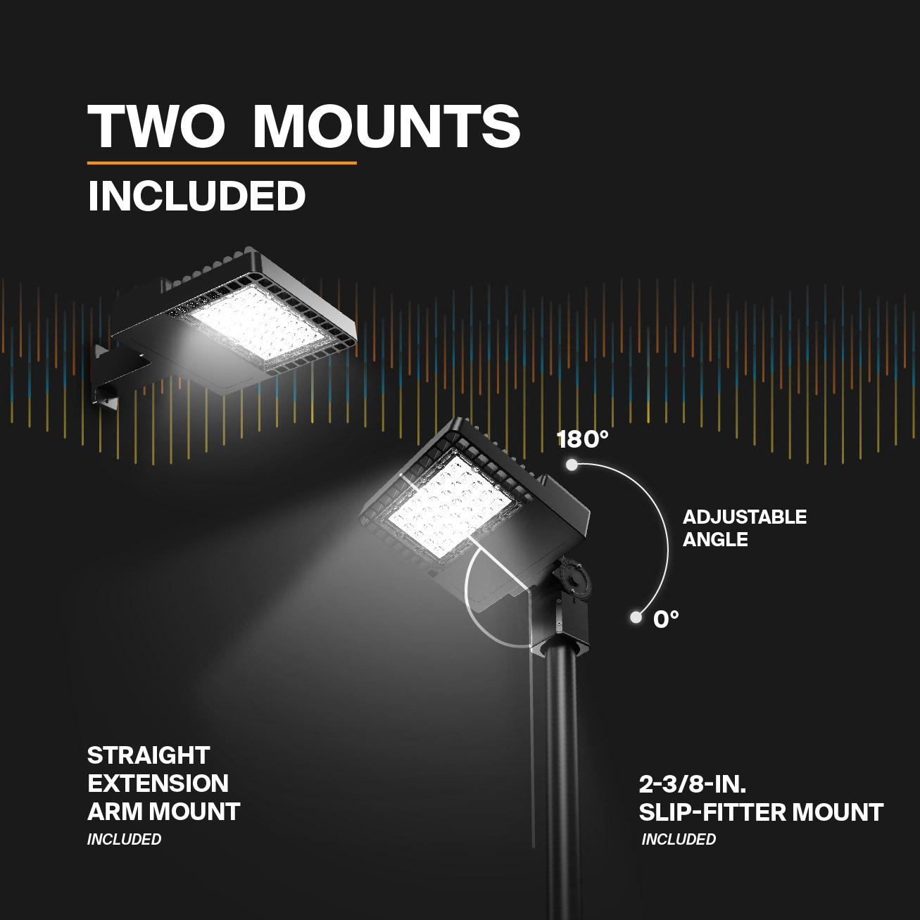 Probrite NOVA100 LED Area Light Included Mounts